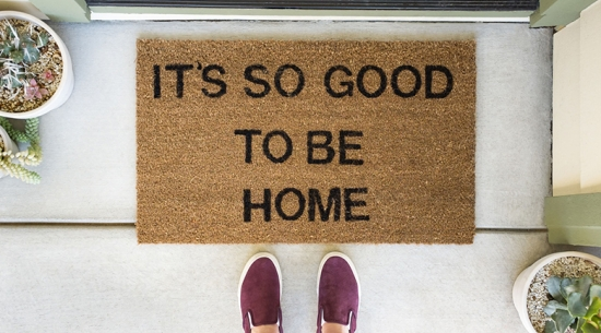 Good to be home doormat