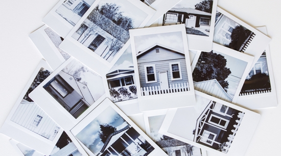 Instant photos of houses
